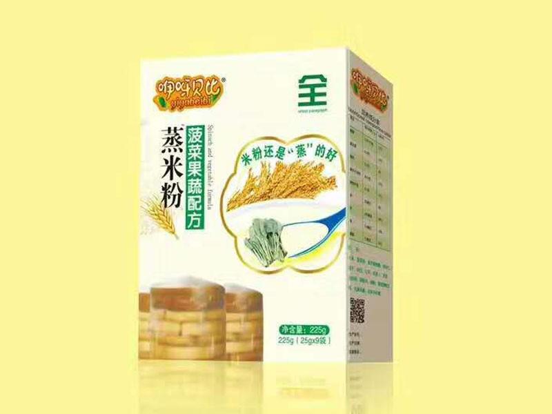 菠菜果蔬配方蒸米粉